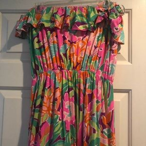 Lily Pulitzer strapless maxi dress